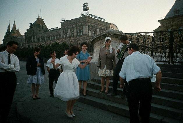Выпускники на Красной площади, 1964 СССР, история, фото