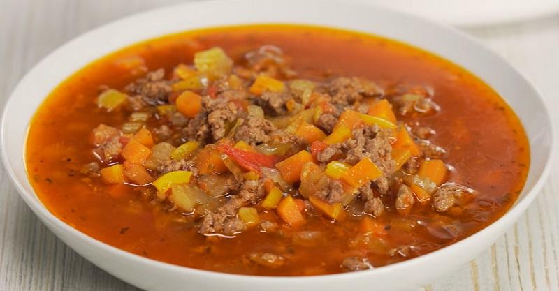 Сытный гамбургер-суп: получается всегда вкусным и аппетитным!