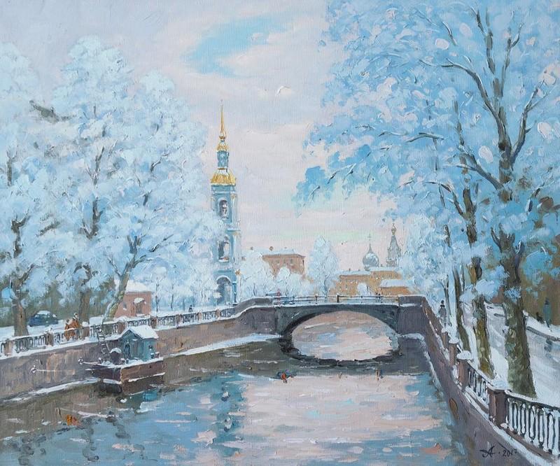 Зимний Петербург на картинах Александра Александровского