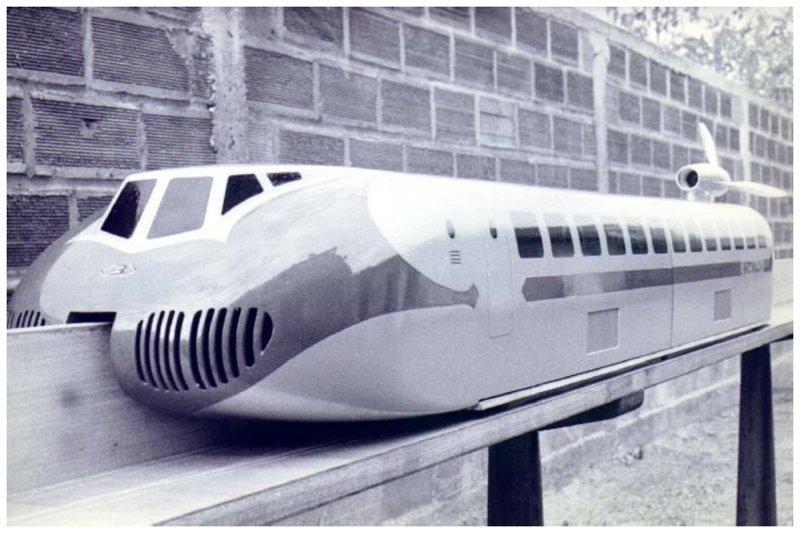 Модель поезда на воздушной подушке вагоны, железнодорожные, изобретения, поезда, рельсы, факты, фантазии