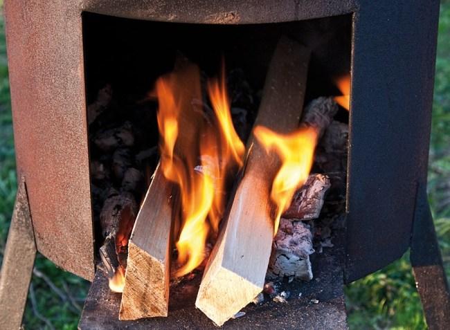 уменьшение интенсивности горения при приготовлении казан-кебаба