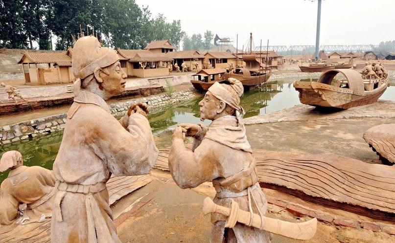 Парк глиняных скульптур