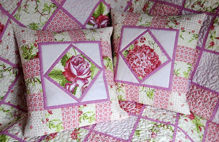 Лоскутные пэчворк подушки: яркая нотка в интерьере декор