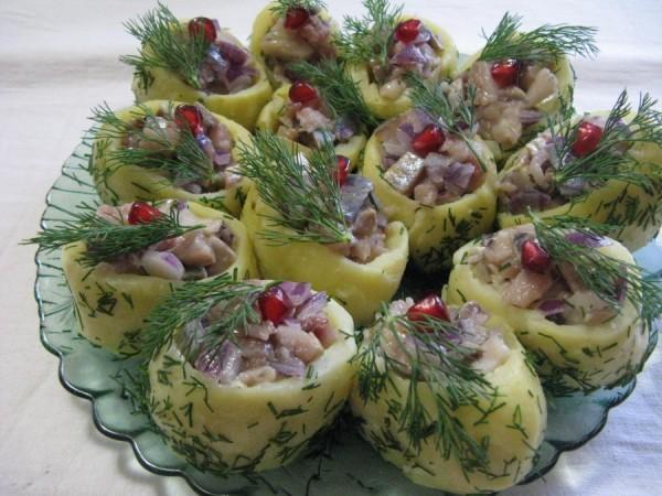 Оригинальные идеи салатов и закусок на праздничный стол