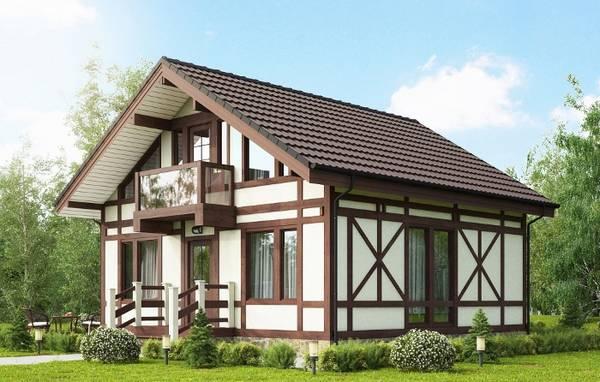 красивые одноэтажные кирпичные дома, фото 22