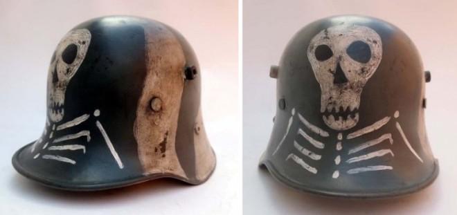 Рогатые шлемы вермахта: крепление было нужно для дополнительной защиты