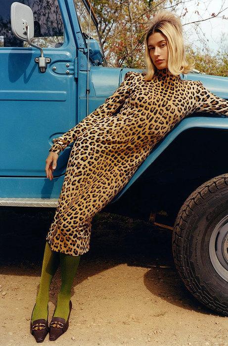 Как носить леопард и быть в тренде: 6 примеров от Хайли Болдуин мода,мода и красота,модные принты,модные тенденции