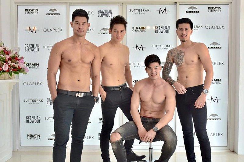 Новый салон красоты Sutteerak открылся в Таиланде совсем недавно. Мужчины-парикмахеры с голым торсом стали его главной изюминкой, и вызвали достаточно ажиотажа! модели, мужчины, парикмахерская, салон, салон красоты, таиланд, топлесс, фото