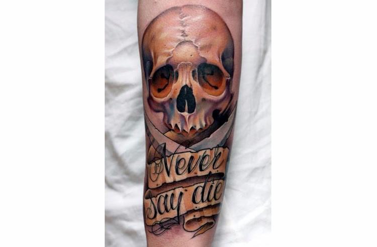 12. «Never Say Die» («Никогда не отчаивайся»). креатив, тату