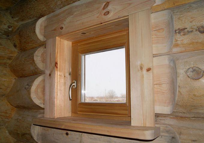 окно в бане