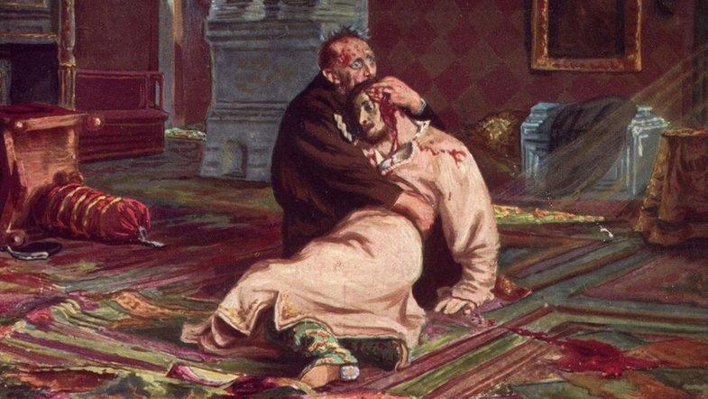 Картинки по запросу иван грозный убивает своего сына
