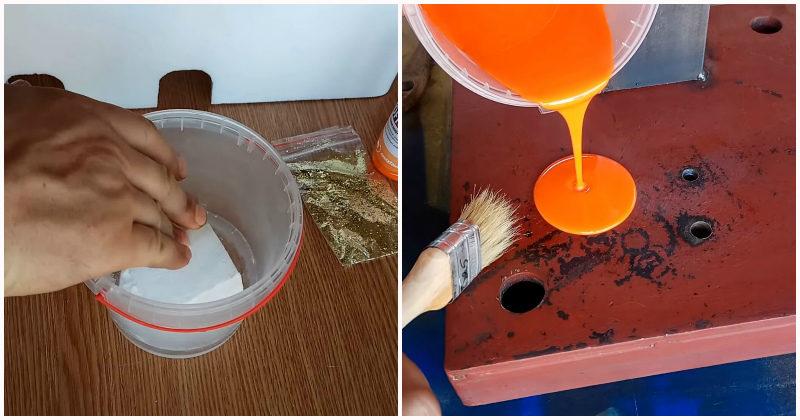 как добавить пенопласт в краску