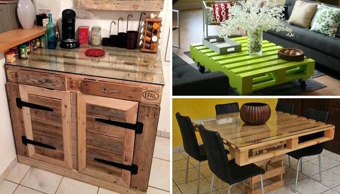 Практичные столы из деревянных паллетов, которые впишутся в любой интерьер