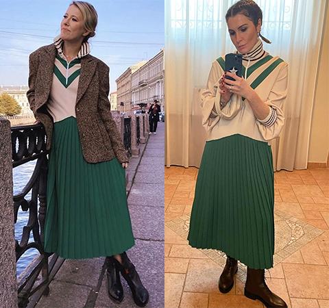 Битва платьев: Ксения Собчак против Лауры Джугелии