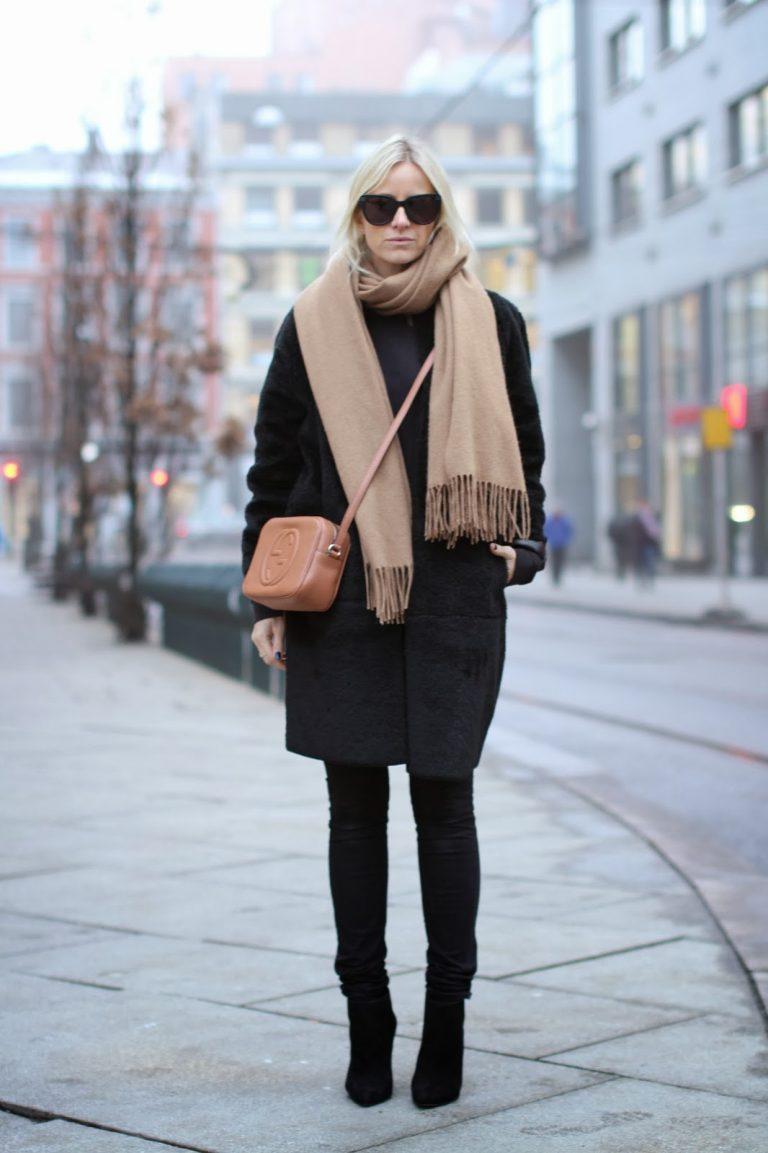 Как правильно сочетать пальто и шарф