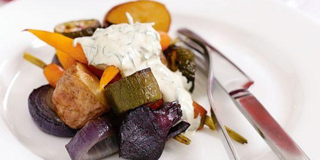 Овощной салат с лаймовой заправкой