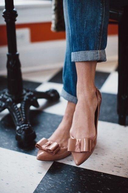 Кожаные балетки: 20 самых стильных решений 2018 года