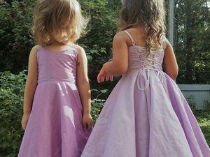 Шьем своими руками нарядное платье для маленькой принцессы