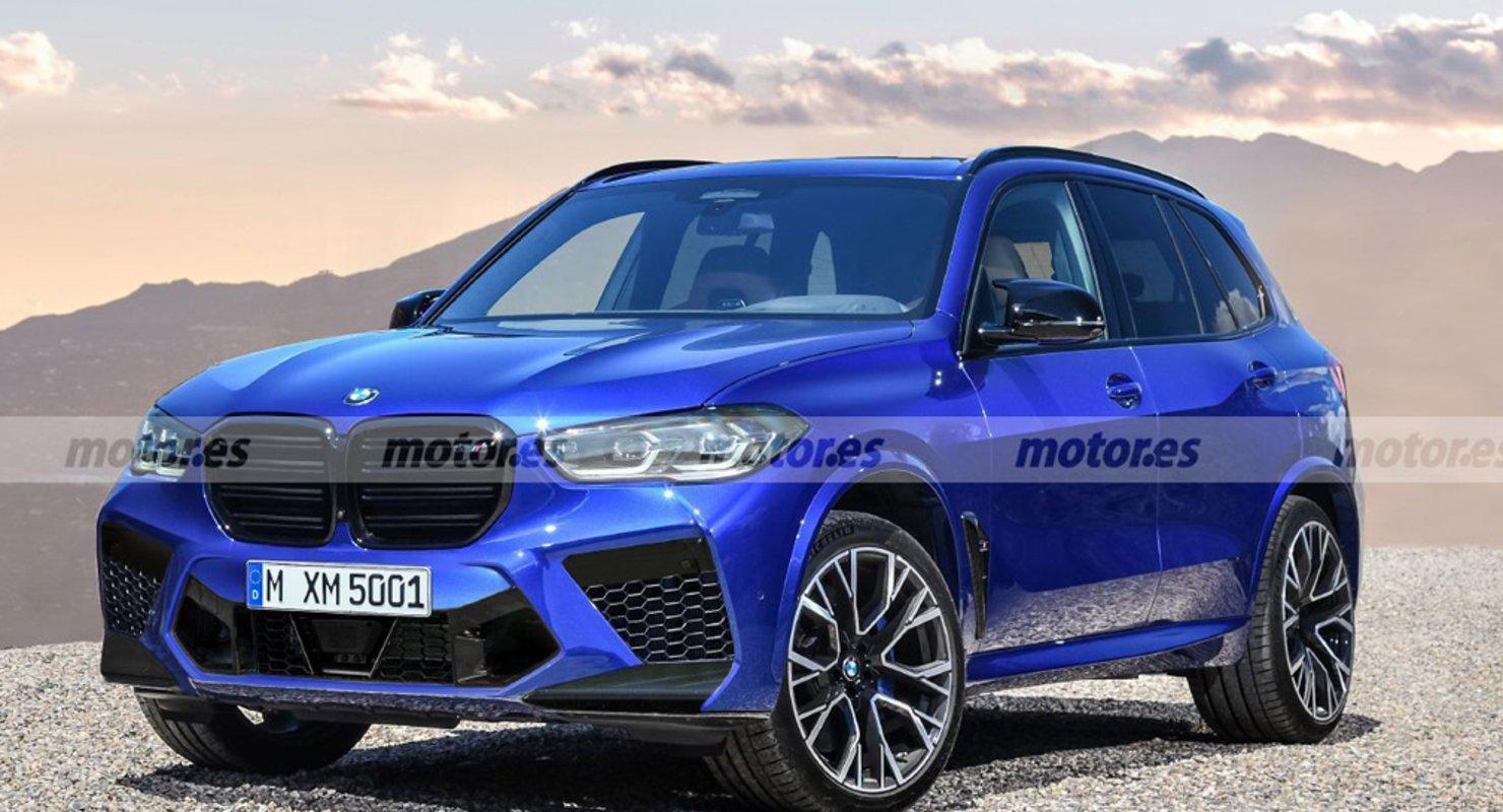 В Сети появились новые рендеры обновлённого BMW X5 М