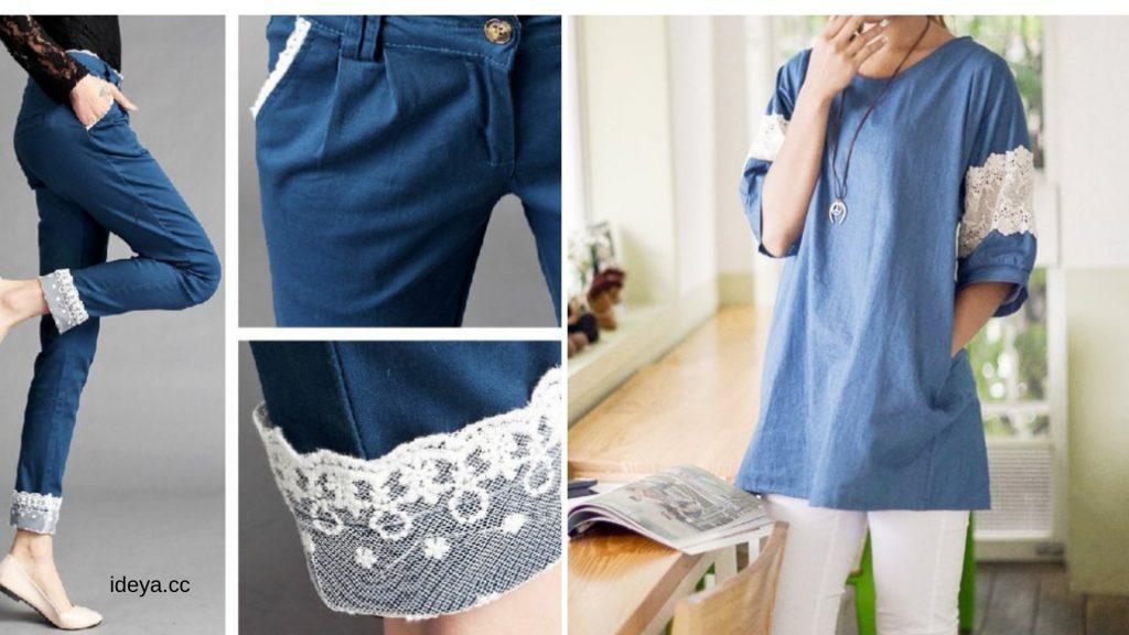 Потрясающие идеи: сочетание кружева и джинса  никого не оставит равнодушным