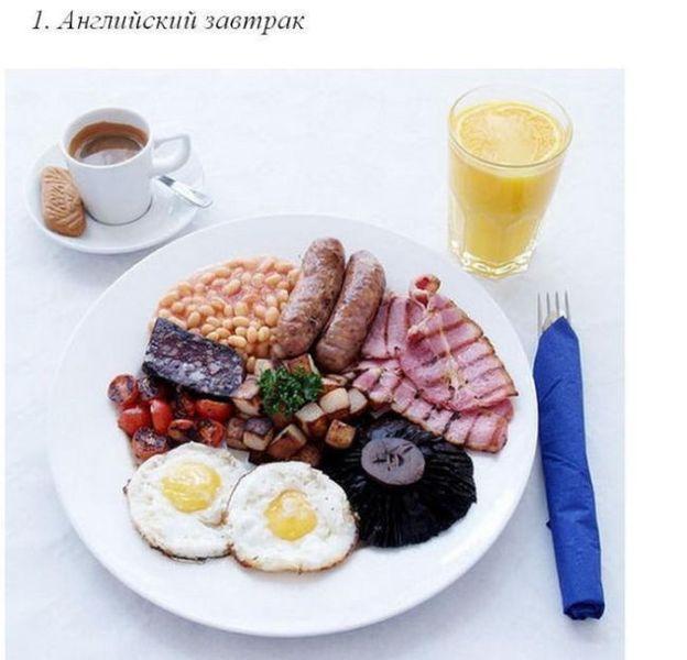 Завтраки разных народов
