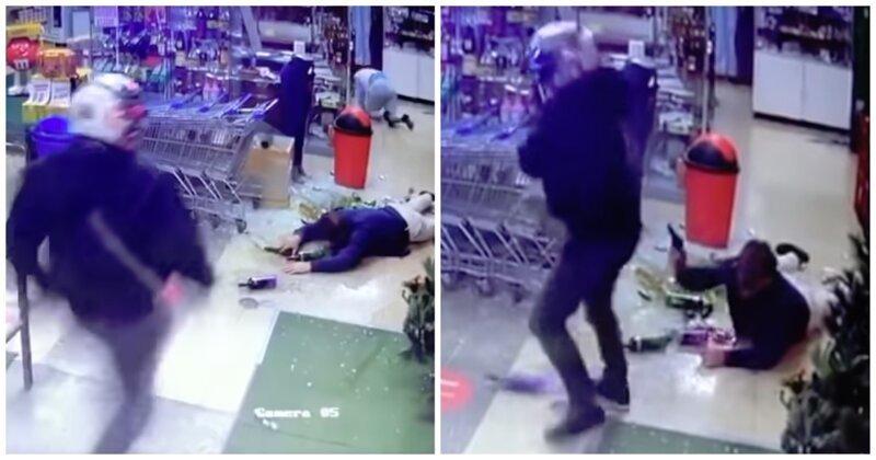 Грабитель решил добить владельца магазина и получил от него 5 пуль