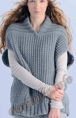 Вязаные жилеты. Легко вязать - красиво носить подойдут, цвете, главное, тепло, фигуру, самое, жилет, предпочтение, вариант, женщин, любого, Зимой, возрастаОдно, прямое, удобен, горловиной, сбоку, шлевках, Справится, полотно