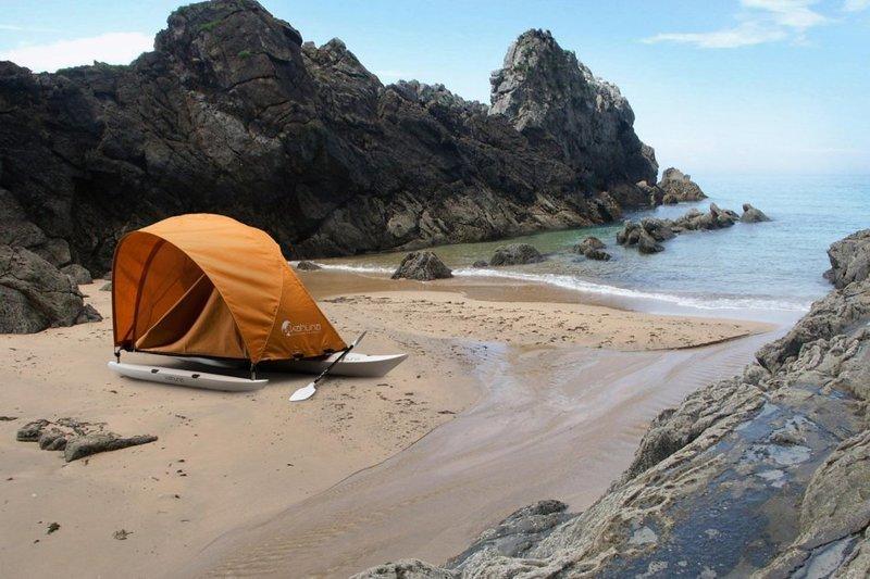 8. Палатка с аутригером для байдарок и каноэ идеи, комфорт, отдых, палатка, природа, путешествие