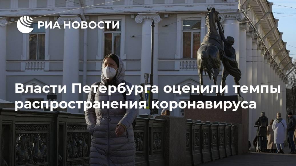 Власти Петербурга оценили темпы распространения коронавируса Лента новостей