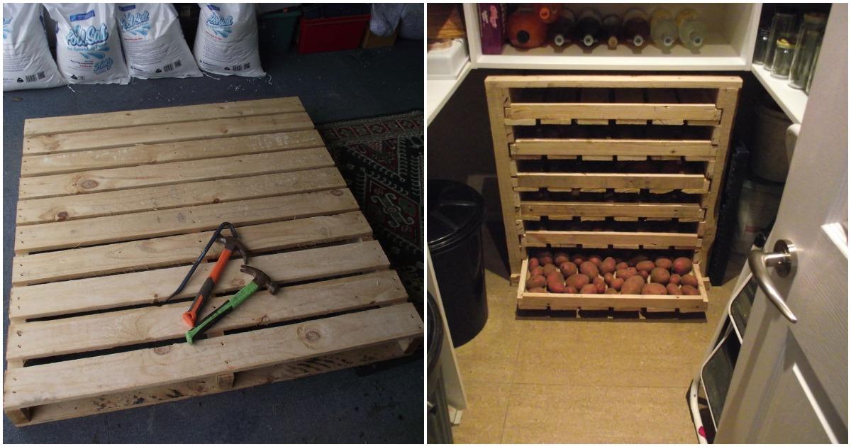 Простой в изготовлении ящик для хранения овощей