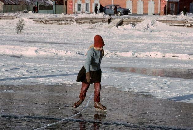 Катание на коньках. Байкал, 1966 СССР, история, фото