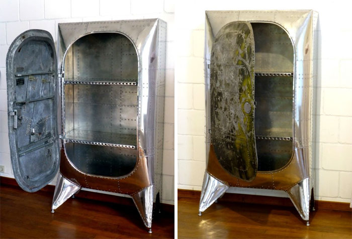Креативная мебель из старых запчастей самолета