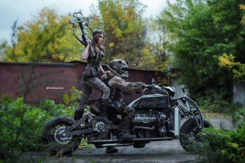 «Гангрена»: самодельный мотоцикл с двигателем V8 от автомобиля Lexus авто, кастом-байк, кастомайзинг, мото, мотоцикл