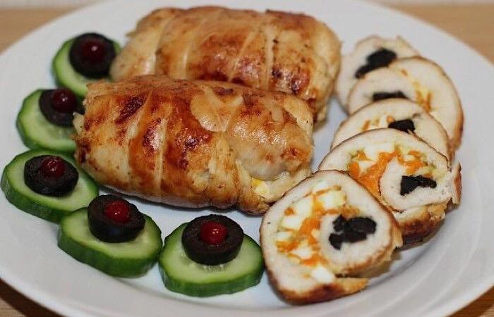 Вкуснейшие куриные рулетики с начинкой