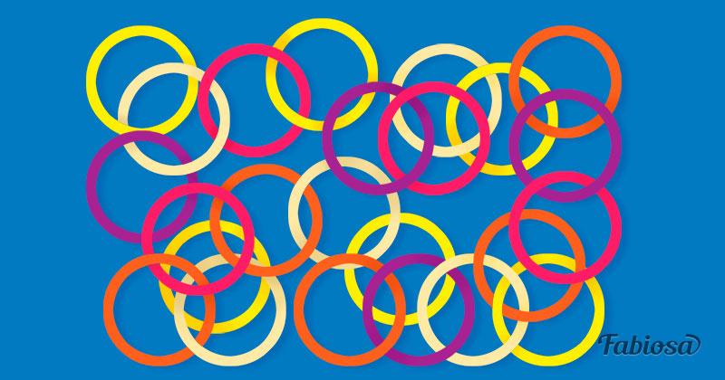 Загадка на внимательность: сколько кругов не связано друг с другом?