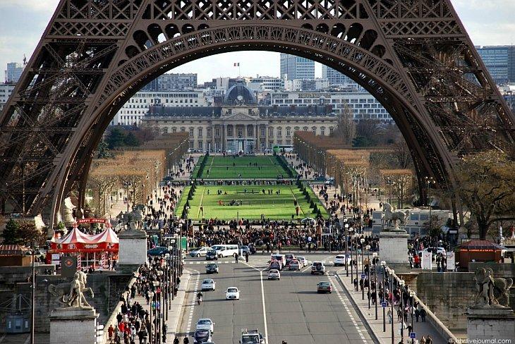 ПУТЕШЕСТВИЯ. Виды Парижа с высоты Эйфелевой башни