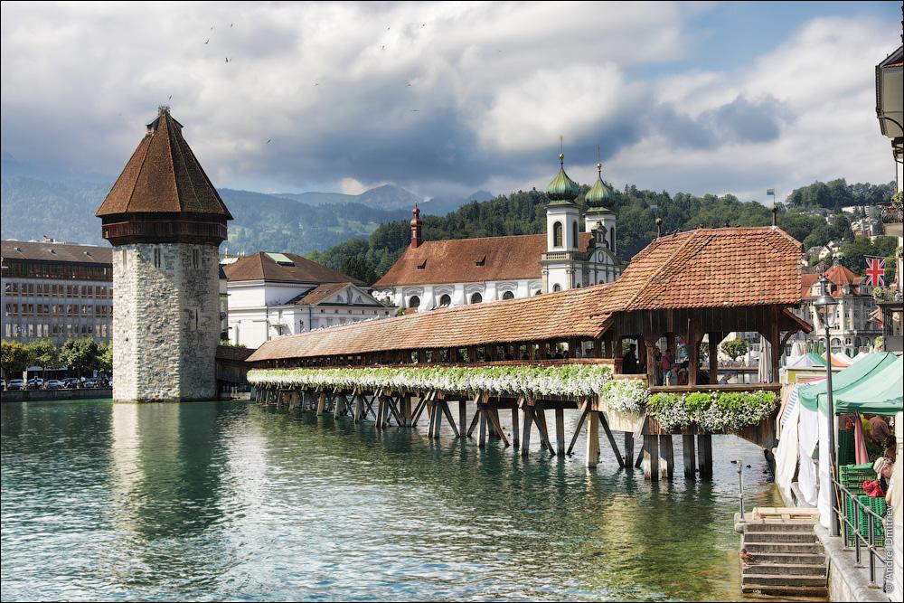 Мост Каппельбрюкке, Люцерн, Швейцария
