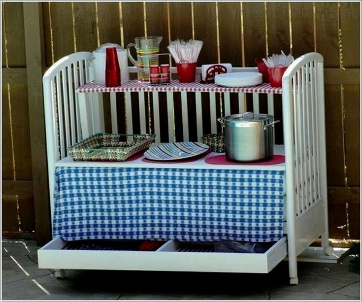 Детская кроватка - на кухне