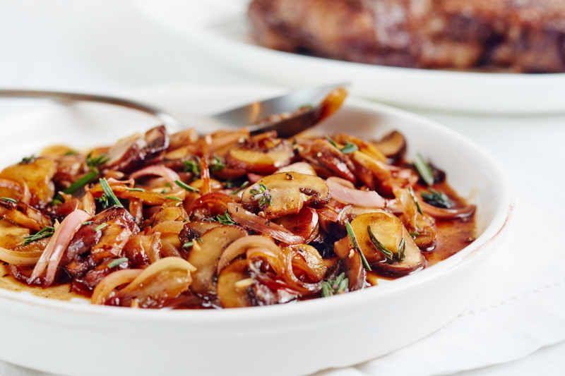 15-минутные бальзамические грибы. Отличный гарнир к любому мясу еда,пища,рецепты, гарниры