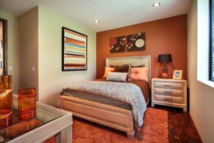 бежево-оранжевая комната