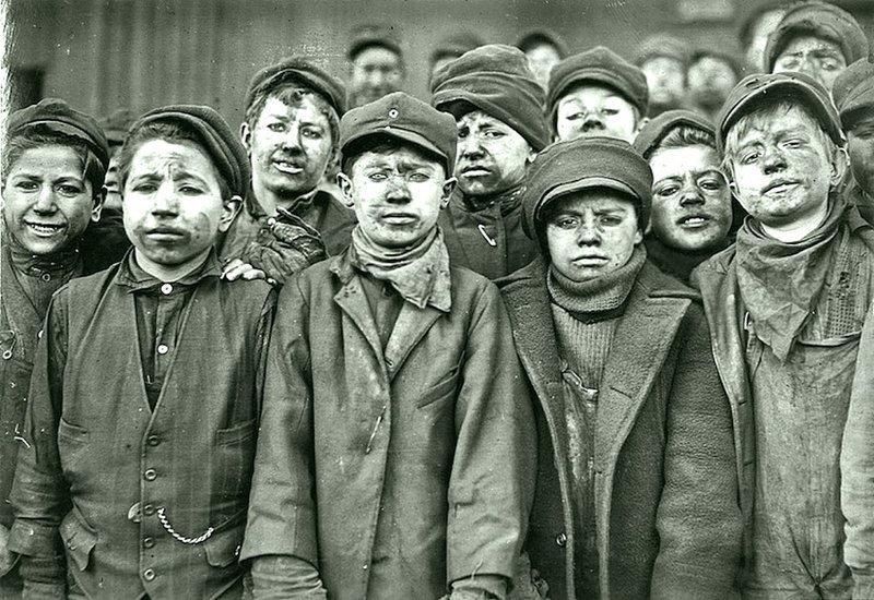 Льюис Уикес Хейн - шахтеры, шахта угольной компании Пенсильвании, январь 1911 года Весь Мир в объективе, история, фотография