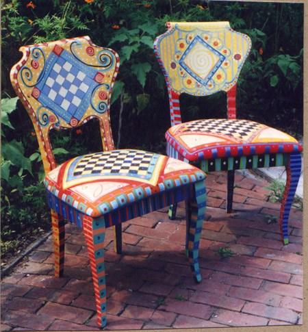 Роспись стула — идеи и мастер класс