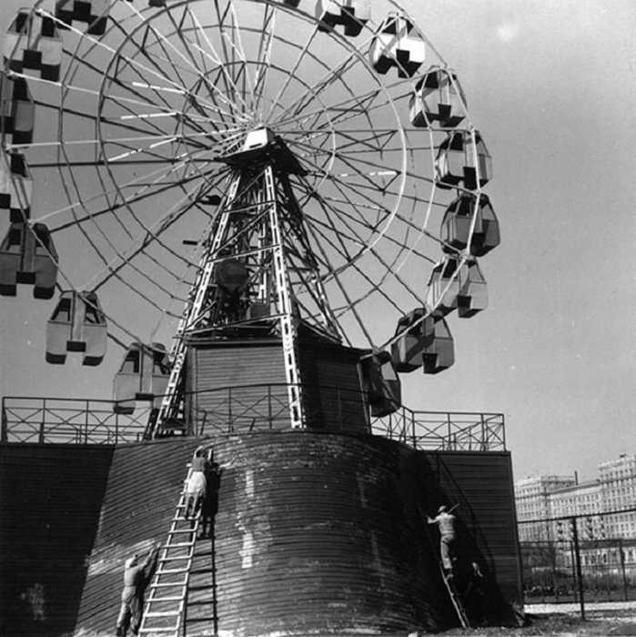 Чертово колесо. СССР, Ленинград, 1955 год.