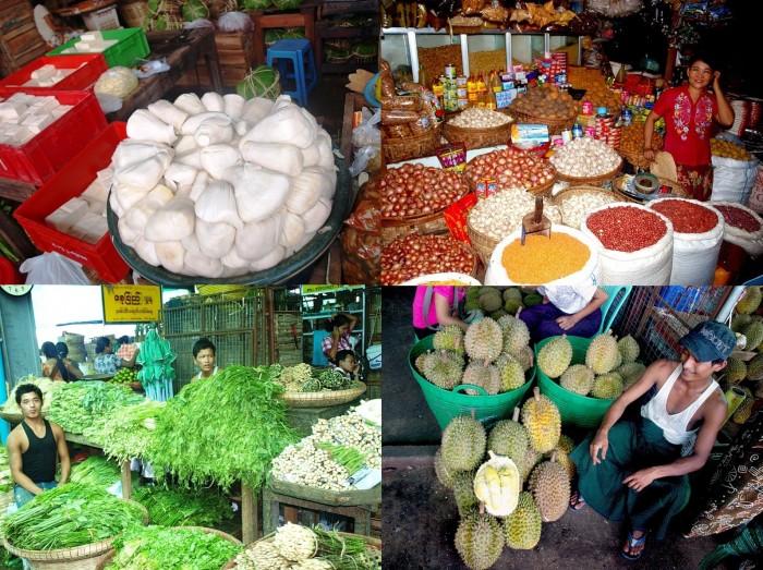 Оптовый рынок Янгона