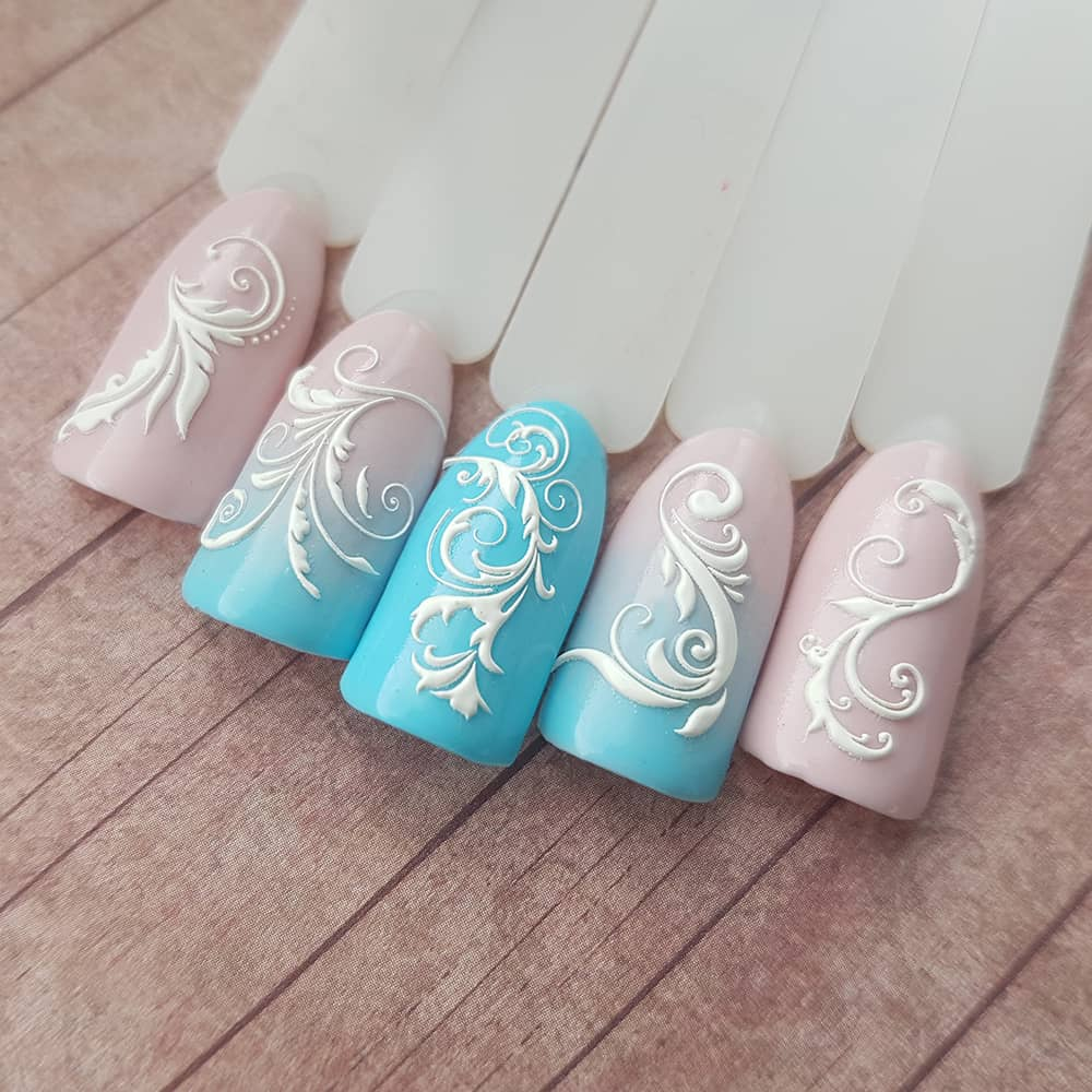 такими вензеля рисунок на ногтях себя аристократически