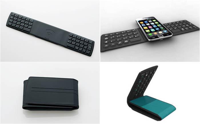 Переносная клавиатура для смартфона гаджет, изобретение, полезное