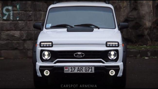 Автотюнеры из Армении представили шикарную переделку LADA 4x4