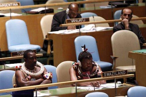 На Земле под одним небом живет множество совершенно разных культур, и представители королевства Свазиленд (Swaziland, юг Африки) на собрании ООН – яркое тому доказательство. интересное, интересные снимки, снимки