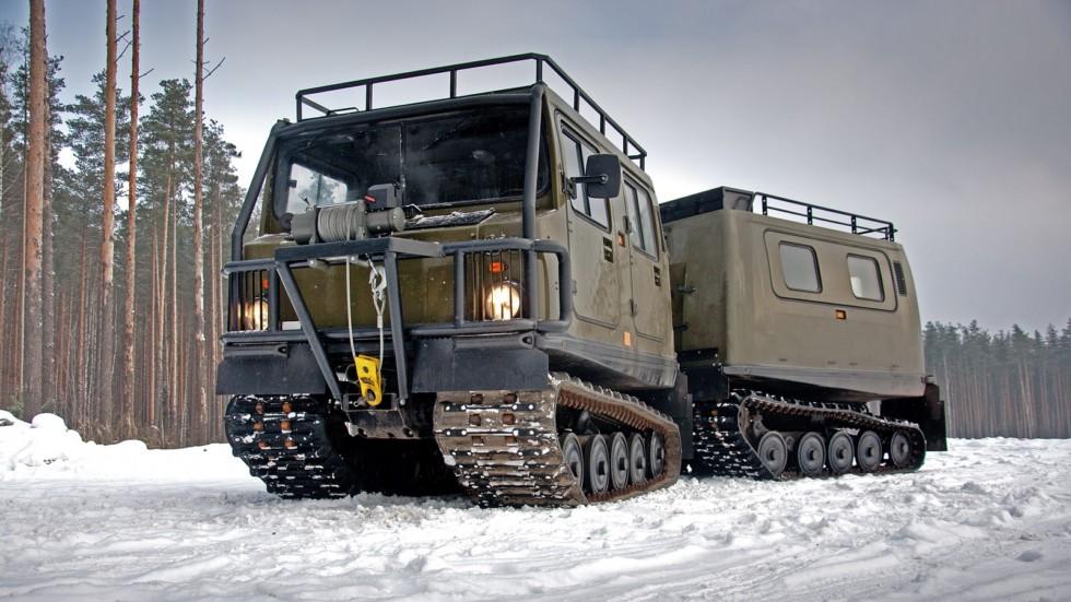 """Всё лучшее от Мерседеса: тест-драйв снегоболотохода BV-206 """"Лось"""" с дизелем"""