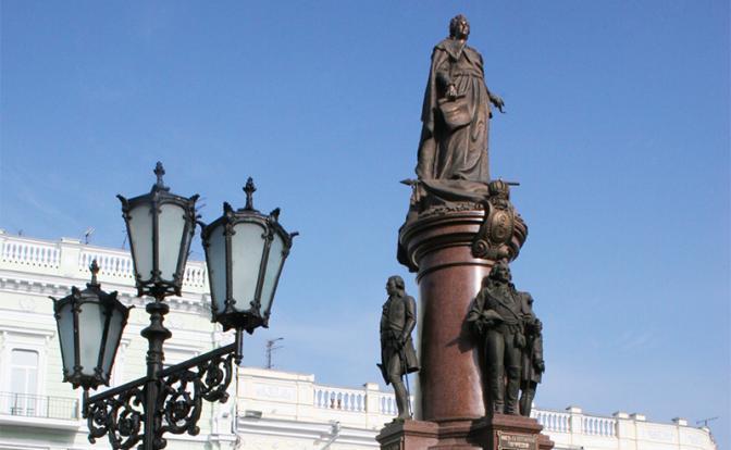 На фото: памятник основателям Одессы